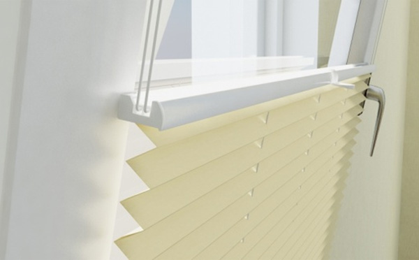 Window Pleated Clip Fit Adhesive Folding Blinds Blinds